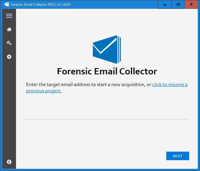 Forensic Email Collector Screenshot