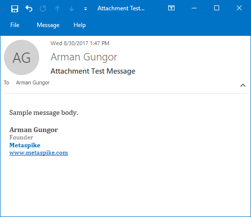 Email with Removed Email Attachments