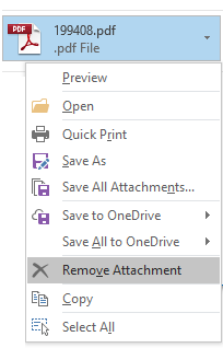 Remove Attachment