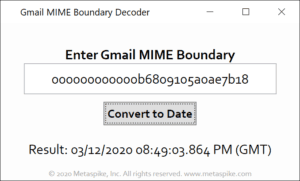 Gmail MIME Boundary Decoder
