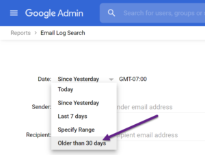 Google Workspace Email Log Search